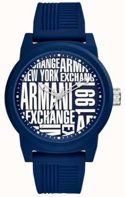 Armani Exchange Męski pasek silikonowy atlc AX1444