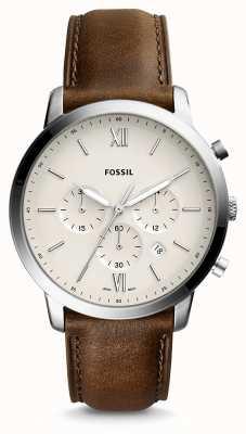 Fossil Męski skórzany pasek z chronografem FS5380