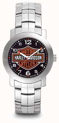 Harley Davidson Męska bransoletka ze stali nierdzewnej z nadrukiem na logo 76A019
