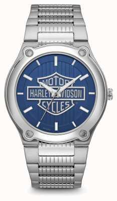 Harley Davidson Nadruk logo niebieska bransoleta ze stali nierdzewnej 76A159