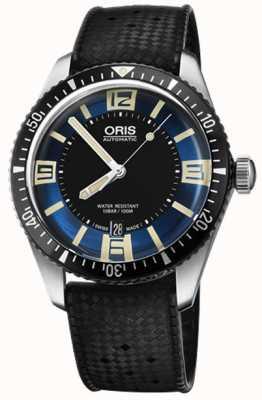 Oris Divers sześćdziesiąt pięć automatyczny gumowy pasek niebieska tarcza 01 733 7707 4035-07 4 20 18