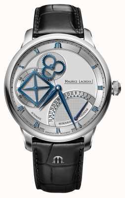 Maurice Lacroix Odwrotny automatyczny zegarek z kwadratowym kołem MP6058-SS001-110-1