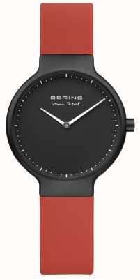 Bering Max rené czerwony pasek czarny pl plated etui i tarcza 15531-523
