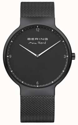 Bering Max rené czarna tarcza białe markery czarny pasek z platerowanego siatką 15540-123