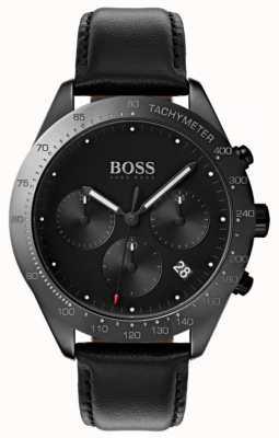 Boss Talent chronograf czarna tarcza data czarna skóra 1513590