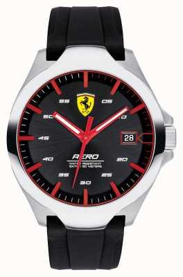 Scuderia Ferrari Męski zegarek z datownikiem, czarny silikonowy pasek 0830506