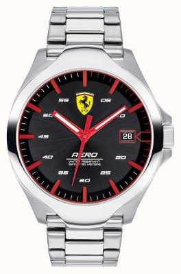 Scuderia Ferrari Męski zegarek z czerwoną tarczą ze stali nierdzewnej 0830507