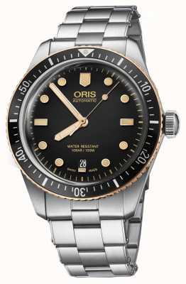 Oris Divers sześćdziesiąt pięć zegarek ze stali nierdzewnej 01 733 7707 4354-07 8 20 18
