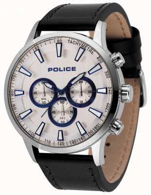 Police Męski zegarek chronografowy z czarnym pasem 15000JS/04