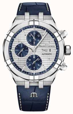 Maurice Lacroix Zegarek skórzany Aikon z automatycznym chronografem AI6038-SS001-131-1