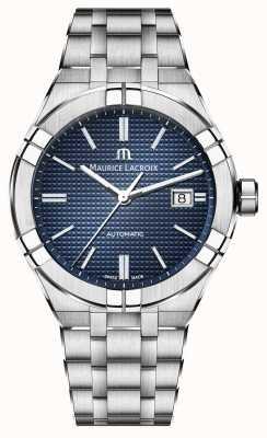 Maurice Lacroix Aikon automatyczny 42mm niebieski zegarek ze stali nierdzewnej AI6008-SS002-430-1