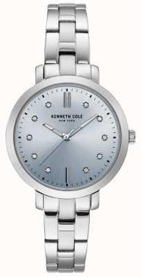 Kenneth Cole Damski zegarek i bransoleta ze stali nierdzewnej z diamentami KC15173004