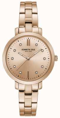 Kenneth Cole Damski zestaw diamentów różowego złota bransoletka zegarek z różowego złota KC15173005