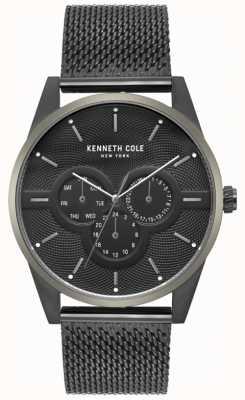 Kenneth Cole Męski zegarek wielobarwny z czarnej siatki KC15205005