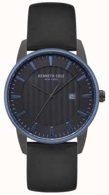 Kenneth Cole Męski czarny zegarek z czarnej tarczy KC15204004