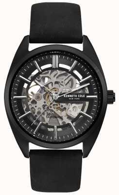 Kenneth Cole Męski skórzany zegarek z czarnego skórzanego paska KC50064001