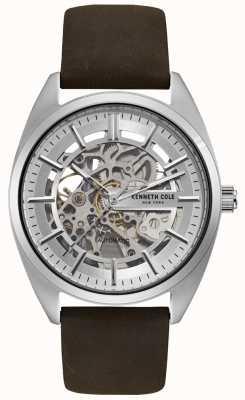 Kenneth Cole Męski zegarek skórzany skórzany pasek tarczowy KC50064002
