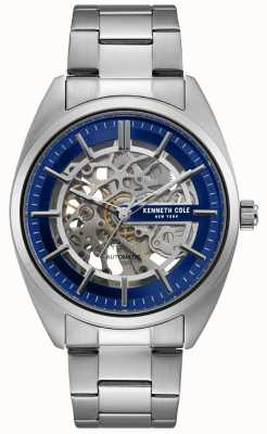 Kenneth Cole Męski zegarek ze szkieletem ze stali nierdzewnej KC50064003