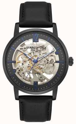 Kenneth Cole Męski skórzany zegarek z czarnego skórzanego paska KC50054002