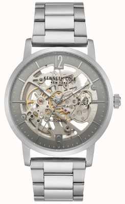 Kenneth Cole Męski zegarek ze szkieletem ze stali nierdzewnej KC50054005