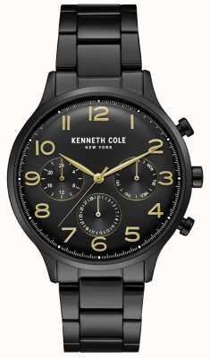 Kenneth Cole Zegarek chronograf męski czarny pvd KC15185001