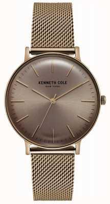 Kenneth Cole Zegarek ze stali nierdzewnej w kolorze różowego złota KC15183002
