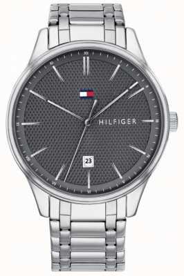 Tommy Hilfiger Męski damski zegarek ze stali nierdzewnej w szarym kolorze 1791490