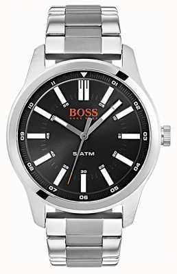 Hugo Boss Orange Mens dublin czarny zegarek ze stali nierdzewnej bransoleta 1550069