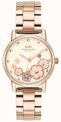 Coach Damski zegarek z pozłacanym różowym złotem 14503057