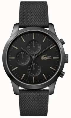 Lacoste Męskie 12.12 85. rocznica potrójny czarny zegarek 2010947