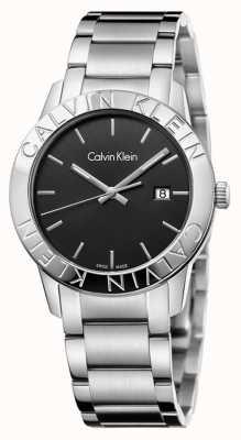 Calvin Klein Stała czarna tarcza ze stali nierdzewnej K7Q21141
