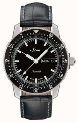 Sinn 104 st sa i klasyczny zegarek z tłoczoną skórą aligatora 104.010 EMBOSSED LEATHER