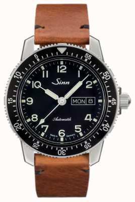 Sinn 104 st sa klasyczny zegarek z pilotem w kolorze jasnobrązowej zabytkowej skóry bydlęcej 104.011 VINTAGE COWHIDE