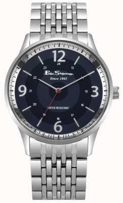 Ben Sherman Skórzany zegarek męski ze stali nierdzewnej BS001USM