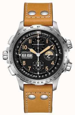 Hamilton Limitowana edycja chronografu khaki lotnictwa x-wind auto H77796535