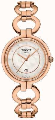 Tissot Damski flaming platerowany różowym złotem T0942103311601
