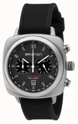 Briston Clubmaster sport czarna gumowa szara, matowa tarcza 16142.S.SP.17.RB