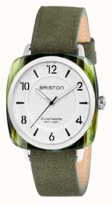 Briston Clubmaster chic biały zielony pasek na rękę 18536.SA.GE.2G.LNGA