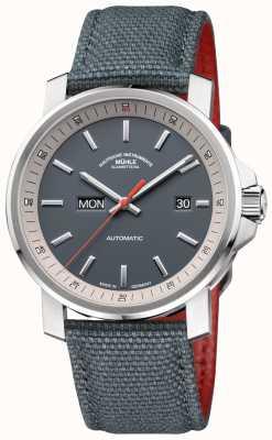 Muhle Glashutte Szary zegarek 29er ze sztyftem ze stali nierdzewnej M1-25-34-NB
