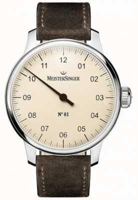 MeisterSinger Nr 1 40mm i zszyty brązowy zamsz sellita DM303