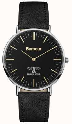 Barbour Męski skórzany pasek z czarnej skóry hartley BB055BKBK