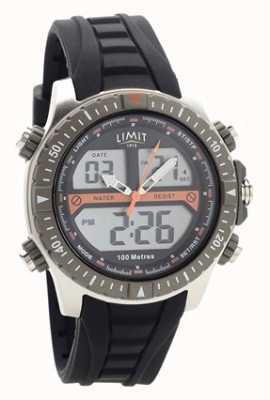 Limit Męski, czarny, gumowy pasek z cyfrowym / analogowym zegarkiem 5694.71