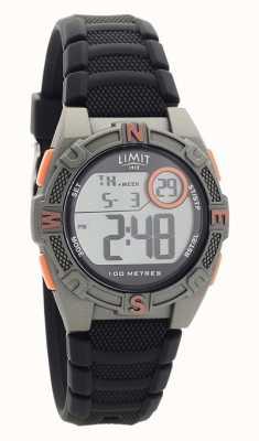 Limit Męski, czarny, gumowy pasek z cyfrowym / analogowym zegarkiem 5695.71