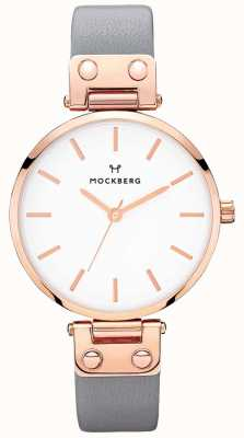 Mockberg Damski zegarek z ciemnoszarą skórą Alicia MO118