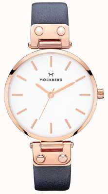 Mockberg Womens sophie granatowy skórzany zegarek MO119