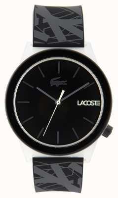 Lacoste Unisex zegarek z czarnego i szarego gumowego paska do zegarków 2010937