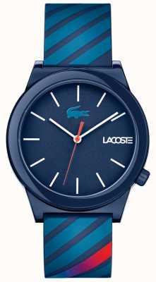 Lacoste Unisex zegarek z ruchomym niebieskim gumowym paskiem 2010934