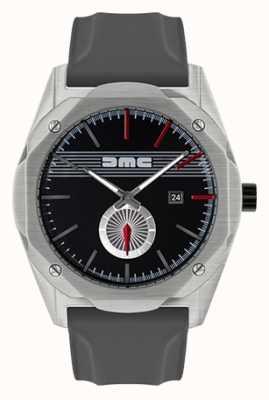DeLorean Motor Company Watches Pasek z szarym silikonowym paskiem w kolorze czarnym DMC-5