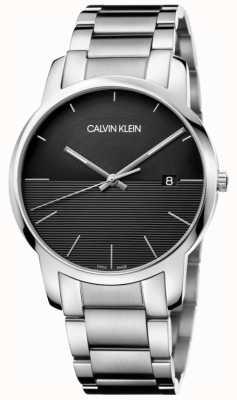 Calvin Klein Męski zegarek ze stali czarnej K2G2G14C