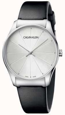 Calvin Klein Zegarek ze srebrną skórą ze skóry damskiej K4D211C6